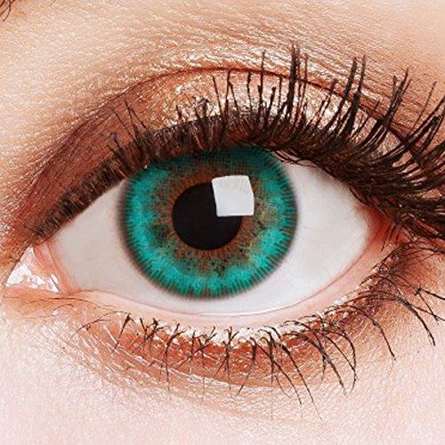 Farbige Kontaktlinsen Ohne Stärke Weiche Natürliche Jahreslinsen Linsen Farblinsen 0 Dioptrien 1 jahr Aquamarine Türkis Grün Blau