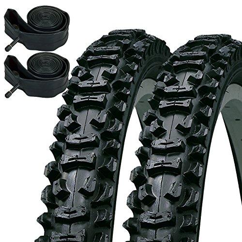 KENDA Smoke 66cm X 1,95Mountain Bike genoppt Reifen & Schrader Inner Tubes (Paar)