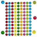 Oblique-Unique 900 x Smiley Face Sticker I Bunt I Glänzender Metallic Look I Niedliche Dekoration