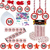 Deko Set 42 tlg. 18.Geburtstag Party Box Dekoration Glitter Girlande Luftballons