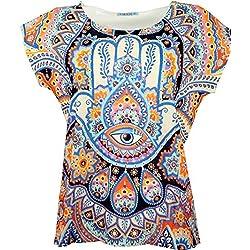 Camiseta con Mandalas especial para Yoga con Diseño de mano de Fátima