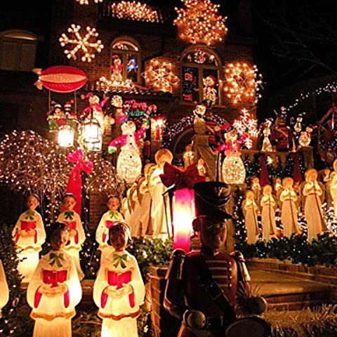 JRZ 10m 100LED luces de navidad luces luces luces navide?as de cuerda todo las luces de estrellas del cielo de la l¨¢mpara llevada impermeable , 220v