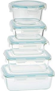 Taliona Borosilicate Glass Boro Pro Rectangular Food Container Set, Blue
