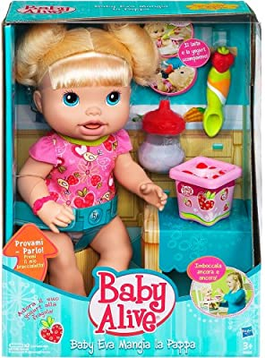 Hasbro Baby Eva - Muñeca que come papilla por Hasbro