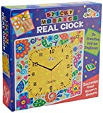 Awals Sticky Mosaics Clock, Multi Color
