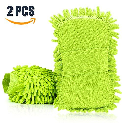 kktick-auto-waschhandschuh-mikrofaser-waschhandschuh-microfiber-autowascheschwamm-mesh-schirm-tuch-a