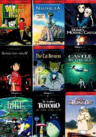 The Best of Miyazaki Collection (9 Pack) ~ My Neighbor Totoro / Nausicaa Of The Valley Of The Wind / Whisper of The Heart / Kiki's Delivery Service / Howl's Moving Castle / The Cat Returns / Porco Rosso / Castle In The Sky / Spirited Away (9 films, 18-DVDs, 956-minutes)
