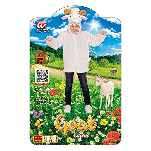 Imagen de widmann 97446–disfraz infantil de peluche de cabra, chaqueta con capucha y máscara alternativa