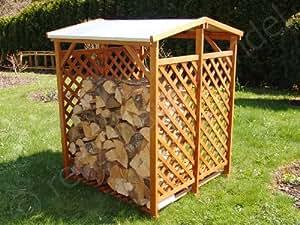 Kaminholzunterstand / Holzregal / Stapelhilfe für Brennholz, Kaminholz, Feuerholz