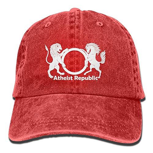 Wnocdmv Atheist Republic Symbol Adult Dad Hat Baseball Hat Vintage Washed Distressed Cap