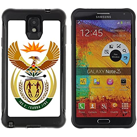 Be-Star Modello Unico Anti-Skid Impact Ibrida Della Copertura Della Cassa Case Antiurto Per SAMSUNG Galaxy Note 3 III / N9000 / N9005 ( South Africa Coat of Arms )