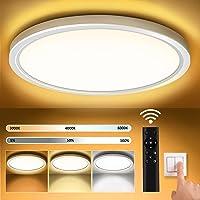 Plafonnier Led, Lampe Plafond 18W Réglable Ø30 cm 3000 K-6000 K Lampe Plafond Led Moderne Rond 1600LM Applicable à Salle…