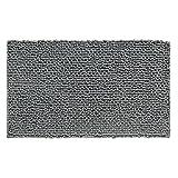 iDesign 19013EU Microfaser-Teppich Frizz, 76 x 51 cm, grau
