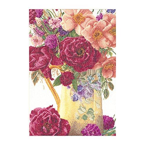 Thea Gouverneur Rose Blumenstrauß auf Leinen Kreuzstich-kit-9.5-inch X stoßabsorbierender Griff 36Zählen - Gouverneur Kreuzstich-thea