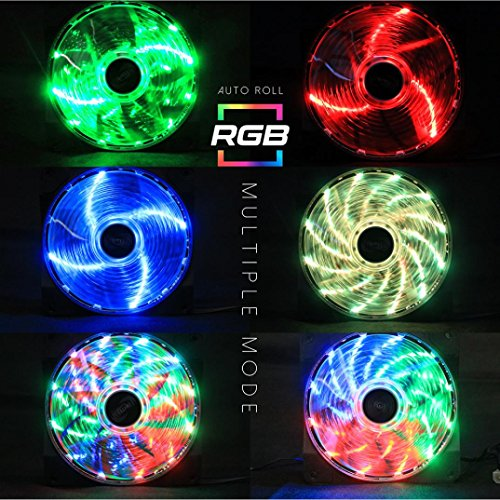 tianranrt RGB Kühlung Fans für DIY PC Schutzhülle, Fantech fc-123 PC Desktop-Tower Computer Lüfter Fall Silent 4 Pin PWM Lüfter 120 mm Einheit Colorful LED-Lichter - Xbox Konsole-einheit 360