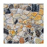 LIOOBO Papel Pintado de Piedra en 3D Adhesivo de ladrillo pelar y Pegar la Pared Falsa decoración del hogar (SA-1014)
