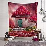 Qcwn conte de fées Forest Tapisserie murale style fantaisie à suspendre Décoration pour chambre à coucher et salle de séjour, Polyester, 2, 78Wx59L...