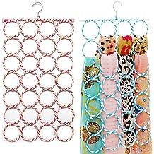 SUMERSHA Schal Bügel Schalhalter Aufhänger Gürtelhalter Krawattenhalter mit 28 Löchern für Handtuch Schal Farbe Random