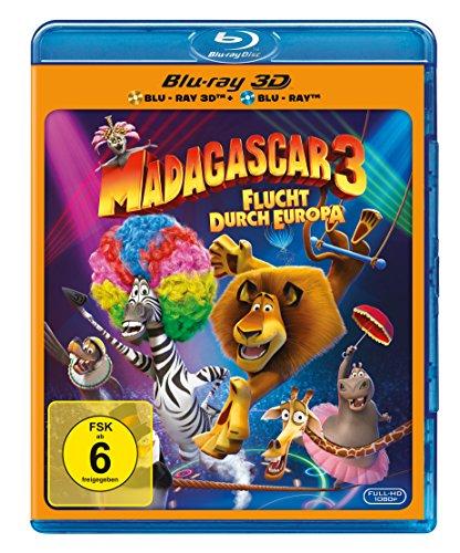 Madagascar 3 - Flucht durch Europa [3D Blu-ray] (Madagascar 2 Blu Ray)