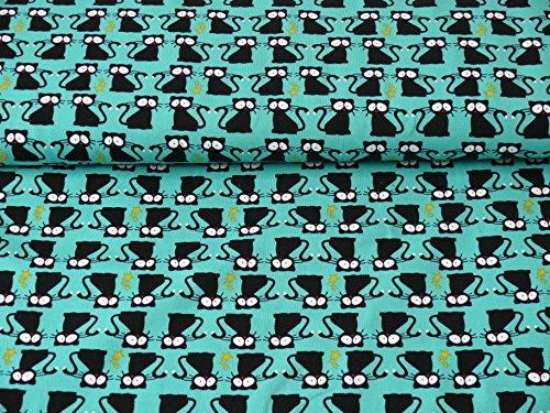 Jersey Katzen Vera (ab 25cm x 160cm) (Katze Jersey)