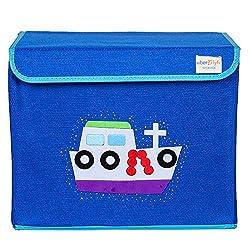 UberLyfe Kids Toy Storage Box - Blue Color - Boat (KSB-001308)