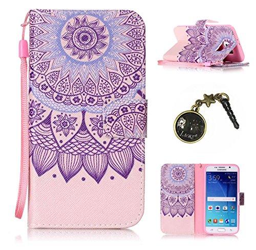 für Smartphone Samsung Galaxy S6 Hülle, Klappetui Flip Cover Tasche Leder [Kartenfächer] Schutzhülle Lederbrieftasche Executive Design +Staubstecker (7OO) 10
