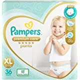 Pampers Premium Care Pants, Extra Large size baby diapers (XL), 36 Count, Softest ever Pampers pants