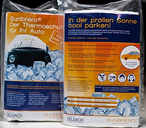 Sunbrero, Sonnenschutz, Abdeckung,Hitzeschutz, Haube für's Auto, um das Starke Erhitzen des Innenraumes zu verringern. Größe 3XL (5,50 m lang, 3,00 m breit) (Auto-haube)