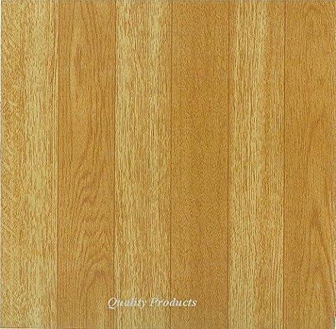 44 x Vinyl Floor Tiles - Self Adhesive - Kitchen / Bathroom, Sticky - Brand New - Plain Wood Effect
