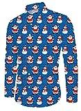 Funnycokid Männer Drucken Ugly Christmas Shirt Langarm Weihnachten Buttons Vintage 70's Classic Design Man Dress Ugly Christmas Shirt