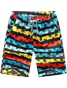 Bañadores de Natación Hombre Casual Secado Rápido Pantalones Cortos Playa Shorts Ligero Moda Shorts