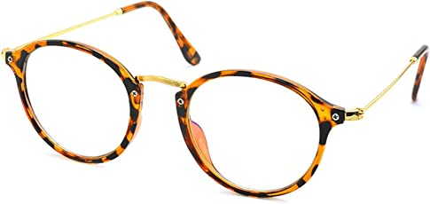 Stacle Zero Power Anti-Reflective Glare Protection Round Unisex Glasses (ST1100, 53, Transparent)
