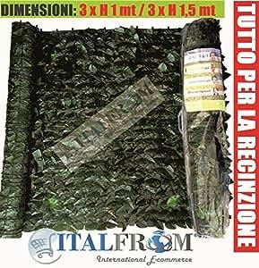 Siepe finta lauro artificiale sintetica arelle for Amazon siepe finta