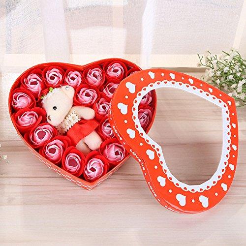 Butterme Pack von 20 romantischen Duft Rose Seife Blume mit