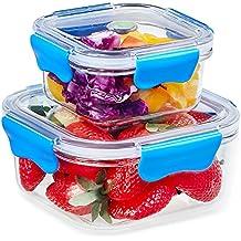 SELEWARE Plastica Contenitori per alimenti Cucina conservazione con coperchi Serratura