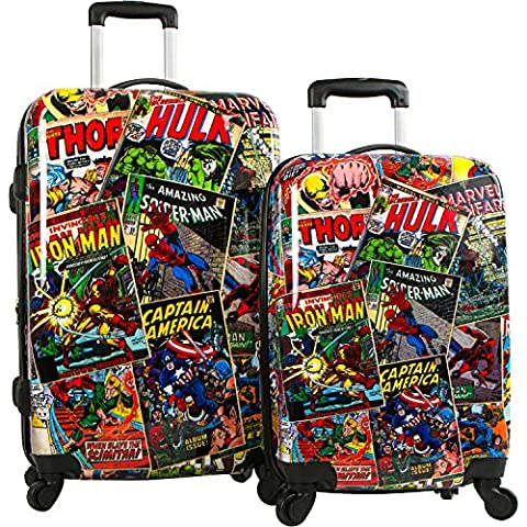 Heys America Marvel Comics Brand New Exclusive Designed Multicolored Carry on Spinner Luggage Set 2 Piece