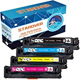 STAROVER 4 Packungen Kompatible Tonerkartuschen für HP 201A / 201X CF400A / CF400X CF401X CF402X CF403X Toner für HP Color LaserJet Pro MFP M252dw M252n M277dw M277n M274n M274dw Drucker - 1 Schwarz + 1 Cyan + 1 Magenta + 1 Gelb
