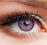 """Farbige Kontaktlinsen 3 Monatslinsen violet lila """"Sweet Violet"""" gute Deckkraft ohne Stärke mit Aufbewahrungsbehälter"""