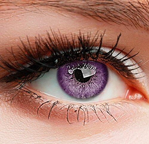 Farbige Kontaktlinsen 3 Monatslinsen violet lila