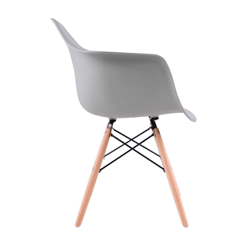 6 Grau Esszimmerstuhl Retro ABS PP Stoff Sessel Küchenstühle ...