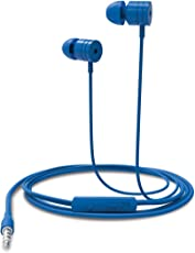 Portronics POR-767 Conch 204 in-Ear Stereo Headphone with 3.5mm Aux Port and Mic (Blue)