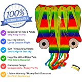 Huge Octopus Kite - Rainbow Colours - 4 Meter Flowing Tails – For Kids, Adults, Boys, Girls - Fun Outdoor Games and Activities