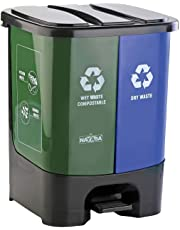 Nayasa 2 in 1 Dustbin - Dry Waste and Wet Waste Dustbin (19 Ltrs) - Small