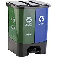 Nayasa 2 in 1 Dustbin - Dry Waste and Wet Waste Dustbin (33 Ltrs) - Big