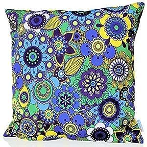 Sunburst Outdoor Living 45cm x 45cm FAIRY Federa decorativa per cuscini per divano, letto, sofà o da esterni - Solo federa, no interno