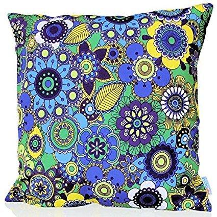 Sunburst Outdoor Living 60cm x 60cm FAIRY Federa decorativa per cuscini per divano, letto, sofà (Rust Brown Set Esterno)