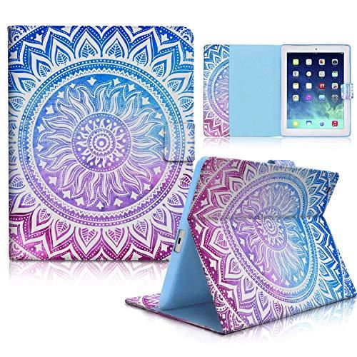 iPad Hülle, iPad 2/3/4Fall, haocoo Stilvolle Art Printed Flip PU-Leder Ständer Schutzhülle mit Kartenschlitzen für Apple iPad 2/3/4Generation (24,6cm), Medallion -