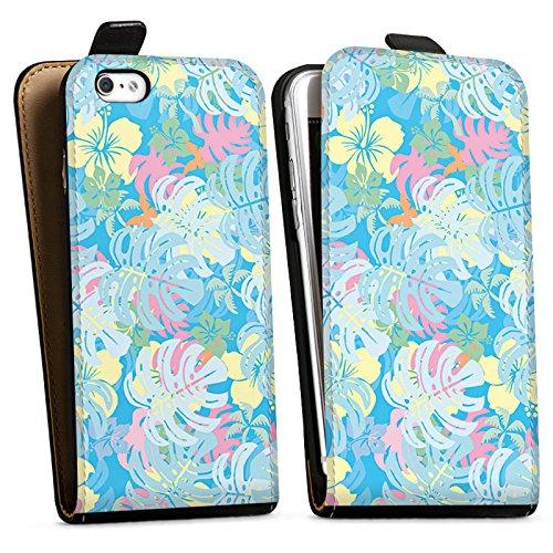 Apple iPhone X Silikon Hülle Case Schutzhülle Sommer dschungel pastell Downflip Tasche schwarz