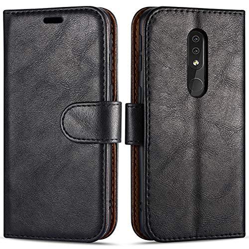 Case Collection Hochwertige Leder hülle für Nokia 4.2 Hülle (5,71