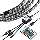 Justech 160cm Tira de Luz LED USB Regulable TV Luce de tira Lámpara de Retroiluminación de TV Lateral Decoración RGB SMD IP65 5V Luz de Tira para PC de Escritorio con Pantalla de TV con Control Remoto